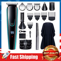 14 in 1 Body Beard Noise Trimmer Cordless Hair Clippers Grooming Kit for Men