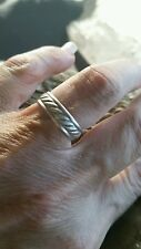 Vintage #22/sterling silver /size 6.25 rope looking band/ handmade