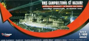 HMS CAMPBELTOWN (OPERATION CHARIOT) WWII ROYAL NAVY DESTROYER 1/400 MIRAGE RARE!