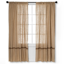 "Homthreads Solid Curtain Panel - Burlap - (55""x84"") Natural *New Free Shipping*"