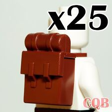 NEW Lego  Pirate Figure Accessory 25x Reddish Brown Solider Backpack Non-Opening