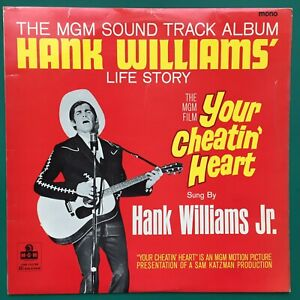 Hank Williams YOUR CHEATIN' HEART Country Film Soundtrack LP George Hamilton MGM