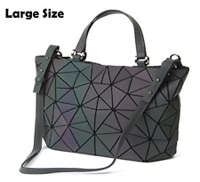 HotOne Luminous Geometric Purse Handbag Holographic Reflective Fashion Backpacks