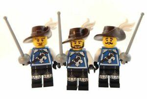 NEW LEGO THREE MUSKETEERS LOT minifig castle knight minifigure figures sword 3