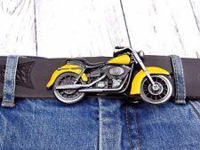 Chopper Biker Classic Bike Motorrad Gelb Gürtelschnalle Wechselschnalle Buckle