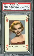 1959 Maple Leaf Gum MARILYN MONROE Playing Card 5 of Hearts PSA 6 Rare!!