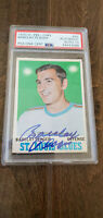 1970-71 OPC SIGNED AUTO CARD BARCLAY PLAGER ST. LOUIS BLUES # 99 PSA DNA 10