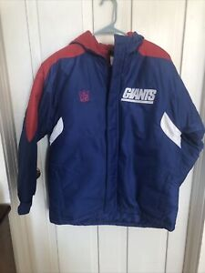 NFL New York Giants Hooded Lined Winter Jacket Coat Large Youth