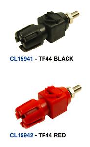 (UK) RED + BLACK HIGH QUALITY HEAVY DUTY 30Amp 500V TERMINAL POSTS 4mm