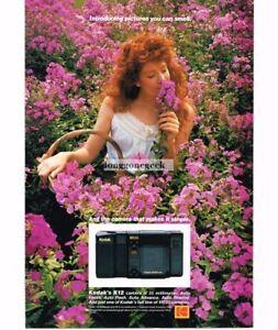 1986 Kodak VR35 K12 Camera 35mm Point Shoot Pretty Girl Pink Flowers Vintage Ad