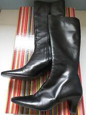 Enrico Antinori Elisa Nero Black Knee High Leather Boots EUR 39 UK 6