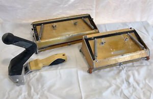 """(3) TapeTech 10"""" 12"""" Drywall Taping Tools Flat Boxes With Short Handle"""