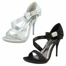 Anne Michelle Strappy, Ankle Straps Slim Heels Women's Satin