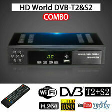 1080P DVB-T2+DVB-S2 FTA Smart Tuner Digital Satellite TV Receiver Box TOP Set US
