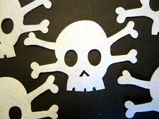 """New listing 5 1/2"""" *Skull & Cross Bones* Felt Applique (5 pc) White *Easy Iron-On*"""