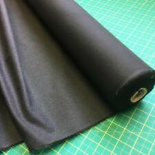 1/2 mt x 112 cm Lightweight Woven Black Fusible Cotton Interfacing Interlining