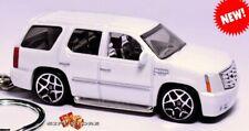 HTF KEY CHAIN RING WHITE CADILLAC ESCALADE LUXURY SUV CUSTOM LIMITED EDITION NEW