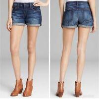 Joe's Jeans Women's 24 Dark Wash Distressed Stretch Mid Rise Darla Jean Shorts