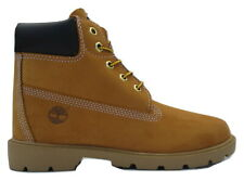 "Junior Boys Girls Kids Timberland Wheat 6"" 6 Inch Leather Boots Size UK 2.5  35"
