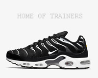 Nike Air Max Plus Black Reflect Silver White Men's Trainers All Sizes