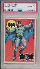 1966 TOPPS BATMAN THE BATMAN CARD #1 PSA AUTHENTIC #27898778 #COLLECTIBLEMAN