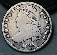 1835 Capped Bust Dime 10C Higher Grade Good Date Early 90% Silver US Coin CC5146