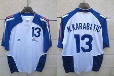 Maillot handball FRANCE ADIDAS n°13 KARABATIC shirt camiseta FFH blanc S