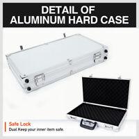 Hard Gun Case Aluminium Hunting Rifle Shot Gun Lock Non Slip Carry Box