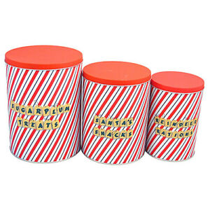 Tall Storage Tins - Sugar Plum (Set 3)