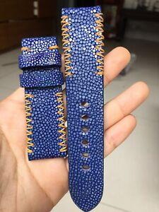 BLUE BLACK GRAY GENUINE STINGRAY LEATHER WATCH STRAP BAND 24mm 22mm 34mm 36mm