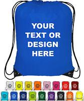 Personalised Drawstring Bag - Bag Sack - School - backpack PE Swim Custom Print