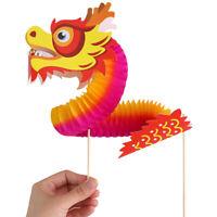 Chinese Dragon Art Paper Tumbling Magic Woven Folk Kids Diy Christmas  U8_A