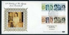 Great Britain 60th Birthday HM The Queen silk first day cover #1(2017/06/05#13)