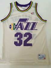 Karl Malone Utah Jazz Jersey Champion Nba Authentic 40