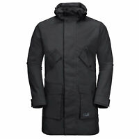 Jack Wolfskin Hayward Parka Mens Hooded Jacket Black 1110231 6000 M