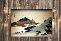 CANVAS WALL ART Hokusai Mount fuji VINTAGE 30MM DEEP FRAMED PICTURE PRINT
