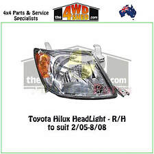 HEADLIGHT fit TOYOTA HILUX R/H RIGHT DRIVER SIDE 2005-2008 ADR COMPLIANT 2WD 4WD