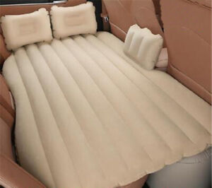 Flocking Inflatable Car Bed For Back Seat Cover Air Mattress Universal Car