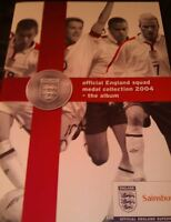 SAINSBURYS 2004 Football (England) Euro Championships Set of 24 Coins & Album