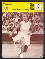 MAUREEN CONNOLLY American Tennis Player Photo 1977 SPORTSCASTER CARD 15-19B