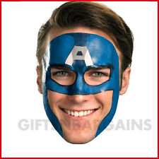 Marvel Captain America Face Tattoo / Costume Mask (Male)  saves time! One Size