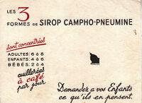 Buvard   Sirop Campho Pneumine