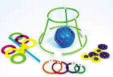 FOUR GAME FAMILY FUN KIT POOL Net Dive Rings Ring Toss Discs Swimming Pool 9199