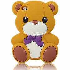 TEDDY BEAR With Bow Tie Silicone Back Case - Suits iPod Touch 4 - 4th Gen