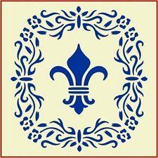 FLORAL FLEUR DE LIS- FRENCH - NEW! -The Artful Stencil