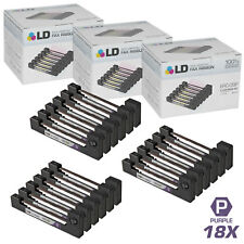 LD © Comp Replacements for Epson ERC-09P Set of 18 Purple POS Ribbon Carts