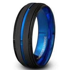 Black Tungsten Carbide Ring for Men 10.5 Brushed Matte Finish 8mm
