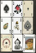 JEUX DE CARTES-PLAYING CARDS- 9 SINGLES- DIFFERENTS AS DE PIQUE