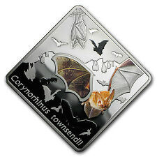 2016 Palau Silver Animals in Glass (The Bat) - SKU #95436