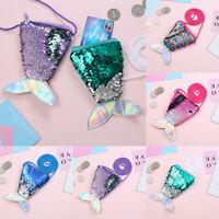 Gift for children Coin purse Mini Shoulder Bag Mermaid Tail Sequin Zipper